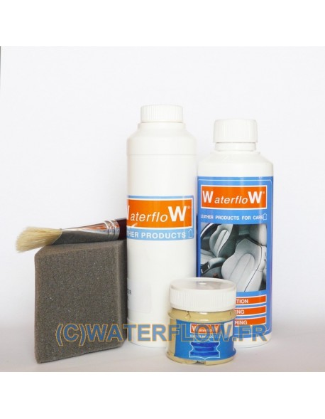 Dyeing leather - Renovation kit for 4 seats in automotive leather