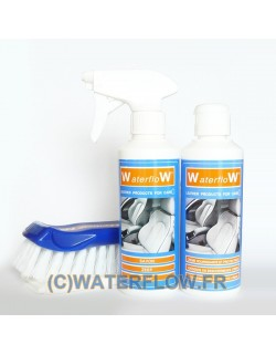 Leather care and cleaning kit for 2 car seats